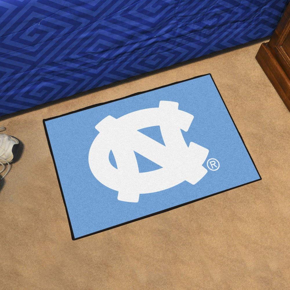 "Fanmats Ncaa UNC North Carolina - Chapel Hill College Sports Team Logo Home Office Nylon Carpet Decorative Door Welcome Starter Rug Floor Mat 20""x30"""