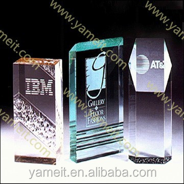 Transparent crystal Trophies and awards