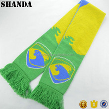 Jacquard pattern custom logo soccer fan sport football winter scarf