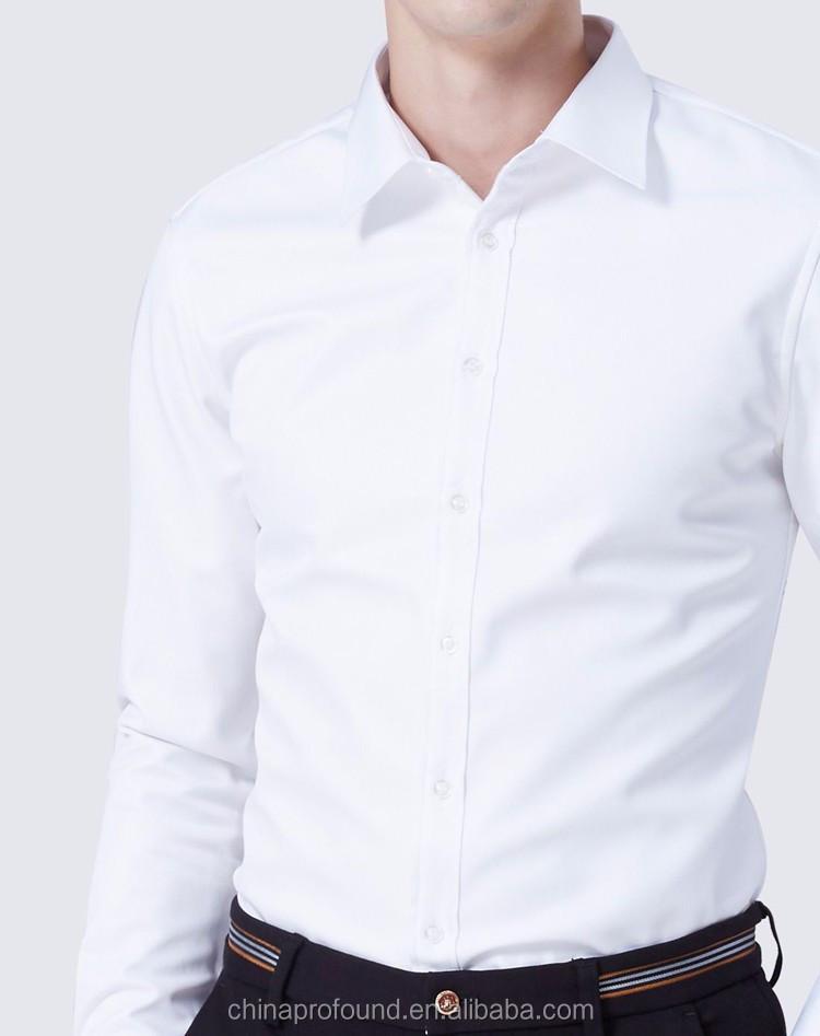 ad41231bb Camisas manga larga de oficina Formal desgaste hombre blanco al por mayor camisas  de vestir para