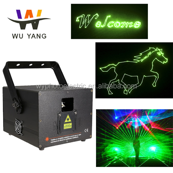 nice effect ILDA control dj disco decoration 500mw green animation mini laser stage lighting price