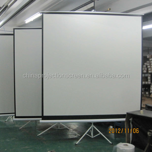 Factory cheaper Prices 1:1 Tripod projector screen,full hd projector/tripod screen