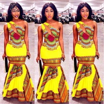 626db88cf936 M2853 Fashion Women Traditional African Clothing Print Dashiki Dress  Sleeveless Casual Dress