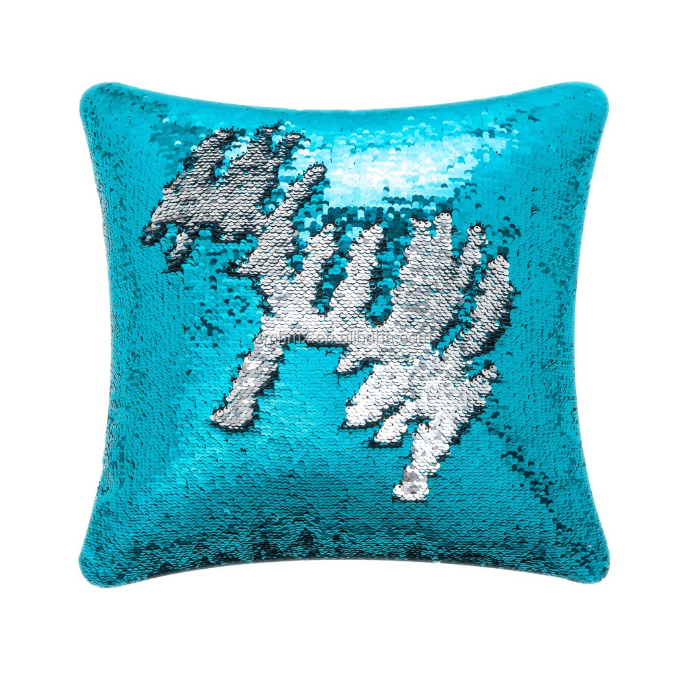 Christmas Sublimation Mermaid Decorative Cushion Custom Sequin Pillow Case  - Buy Custom Pillow Case,Sequin Pillow Case,Cushion Pillow Case Product on