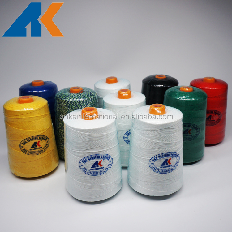 Manufacture Good Quality 12s/4 20s/4 Polyester Bag Closing Thread