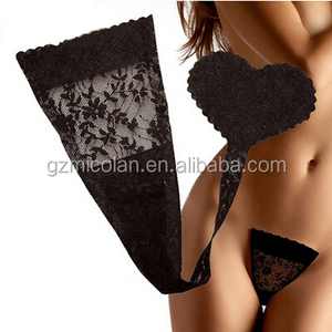 Sticky Lingerie C String Invisible Women Panty Heart Shape Pants