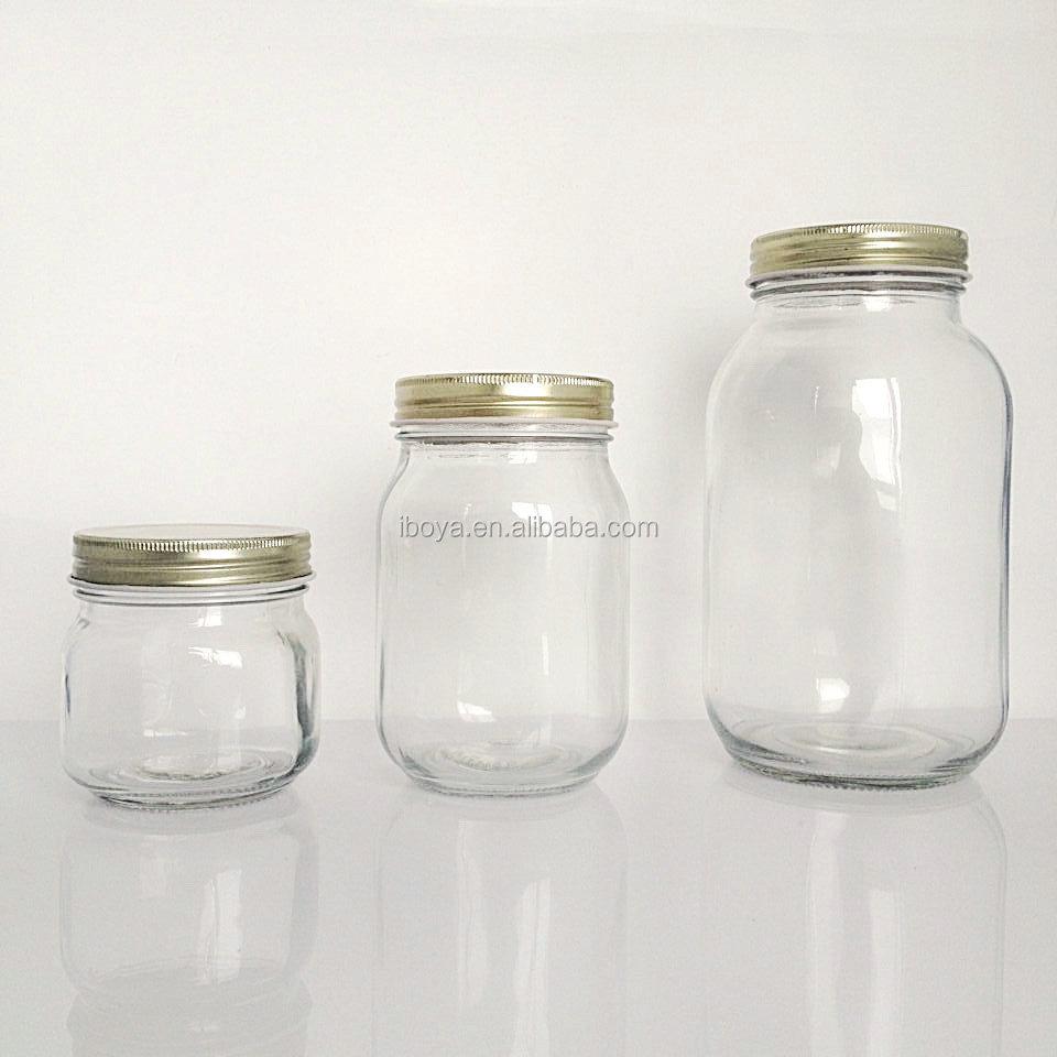 250ml 500ml 1000ml Super Clear Mason Jars Storage Jars