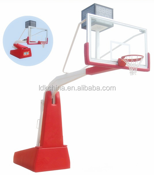 Indoor Stadium Good Basketball backstop basketball stand with tempered Glass