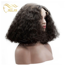 Mulan the best lace front wigs short curly virgin brazilian human hair wigs