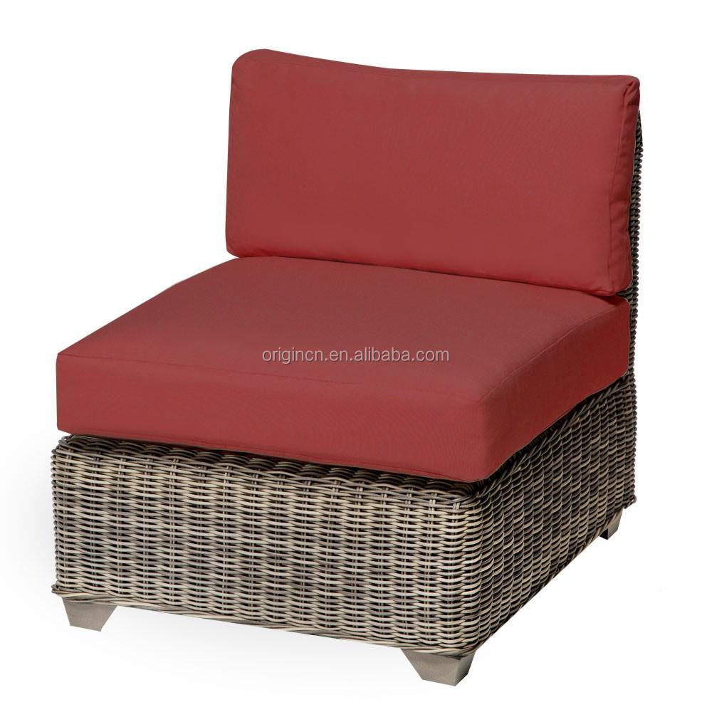 l shape villa garden sofa set with single seat and small long tea table suitable rattan