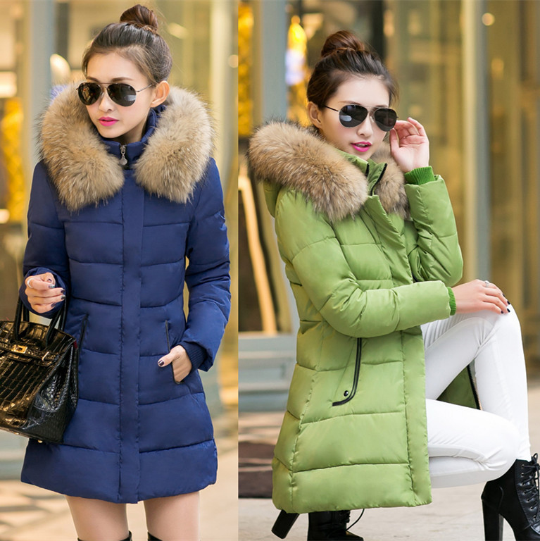 Women's Down Coat With Fur Hood Down Parka Puffer Jacket