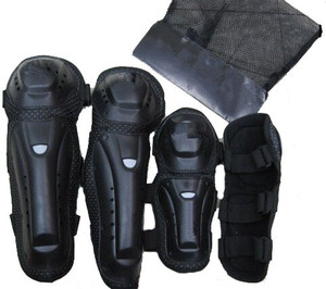 High Quality knee and elbow guard set protectors .PP motocross knee guard 4 pcs set in stock.