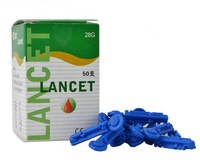 one time using consumer disposable blood lancet for blood glucose meter diabetes
