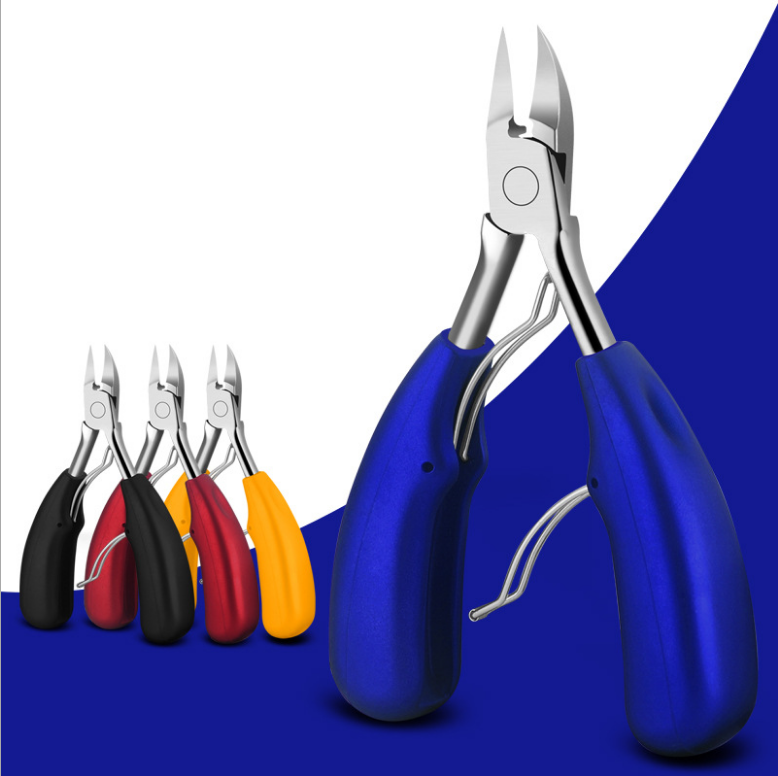 High Quality Stainless Steel Pedicure Care Tool Toe Nail Correction Nippers Clipper Cutters with Strong Bold Handle