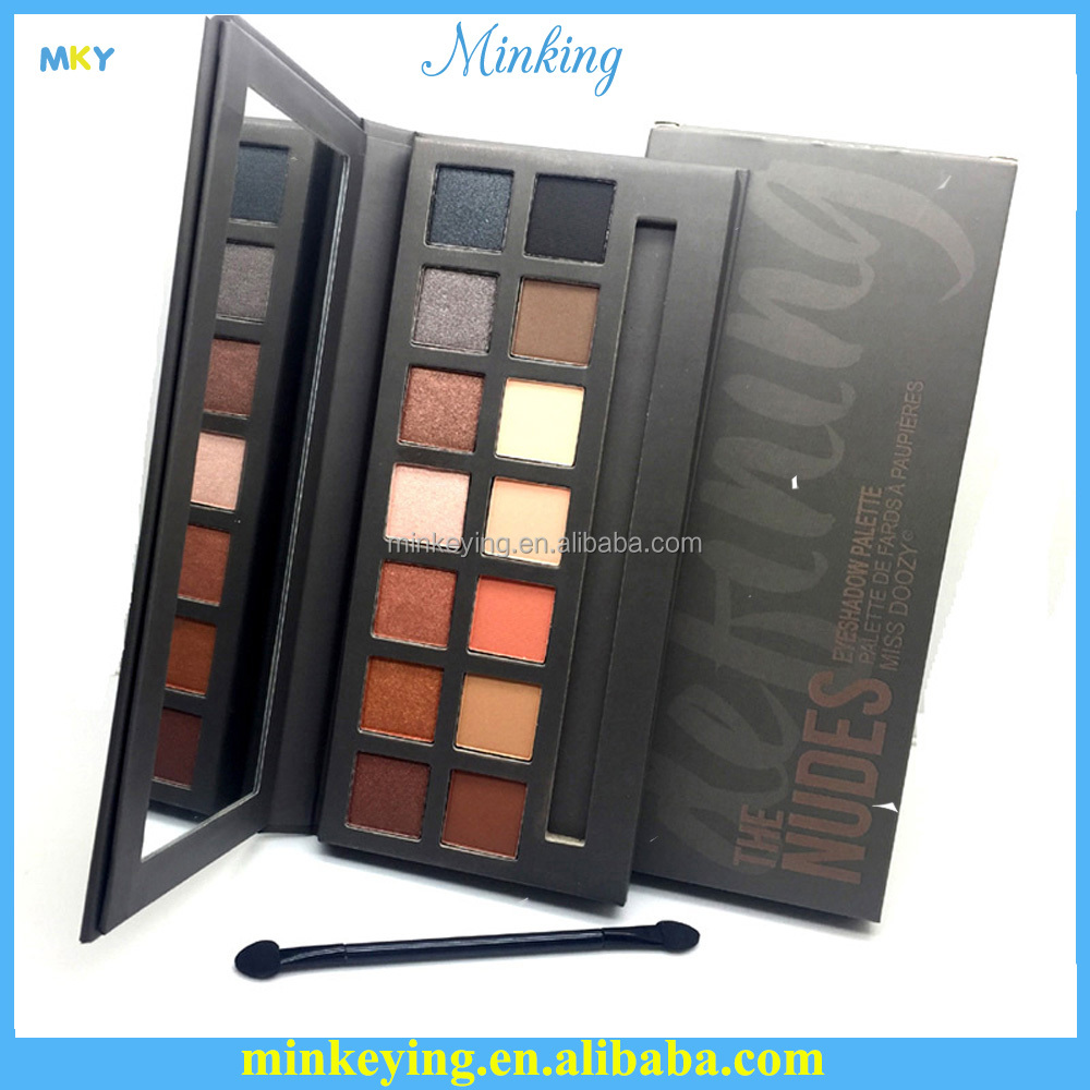Miss Doozy cosmetics matte & shinning naked makeup <strong>eye</strong> shadow 14 color eyeshadow palette