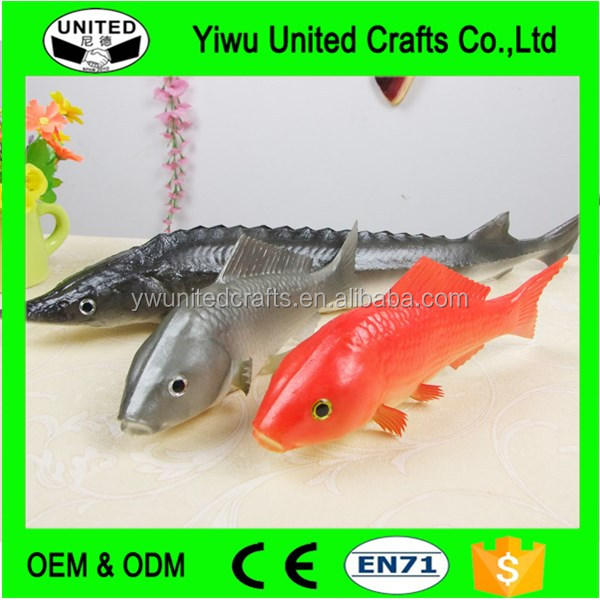 Customized PU Fish For Promotion lifelike artificial pond fish