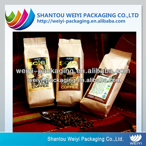 kraft coffee bag heat sealing, disposable coffee packs
