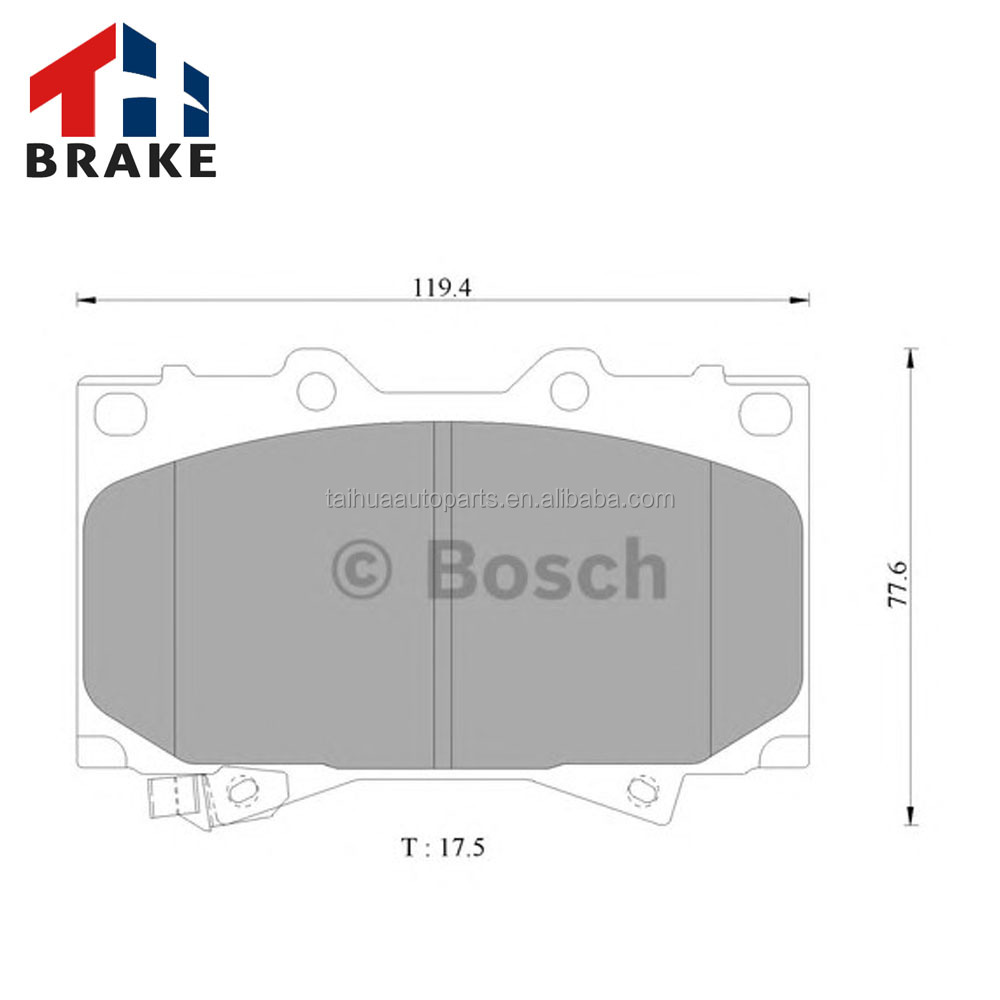 Ceramic disc Brake Pad Set with acoustic wear warning for toyota oem breake