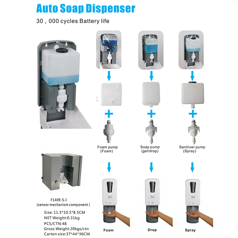 China Factory Auto Sensor Soap Dispenser