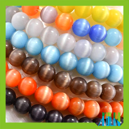 jewelry bead round ball bead glass cat eye beads