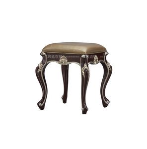 Exquisite Wood Carved Queen Anne Dressing Stool