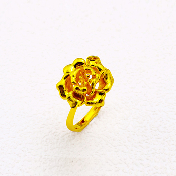 Rose Design Rings | Xuping Cheap Jewellery Wholesale Rose Design Dubai Gold Ring Models