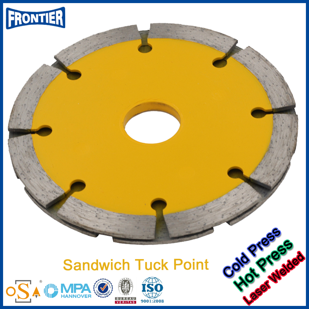 China manufacture durable diamond laser tuck point blade