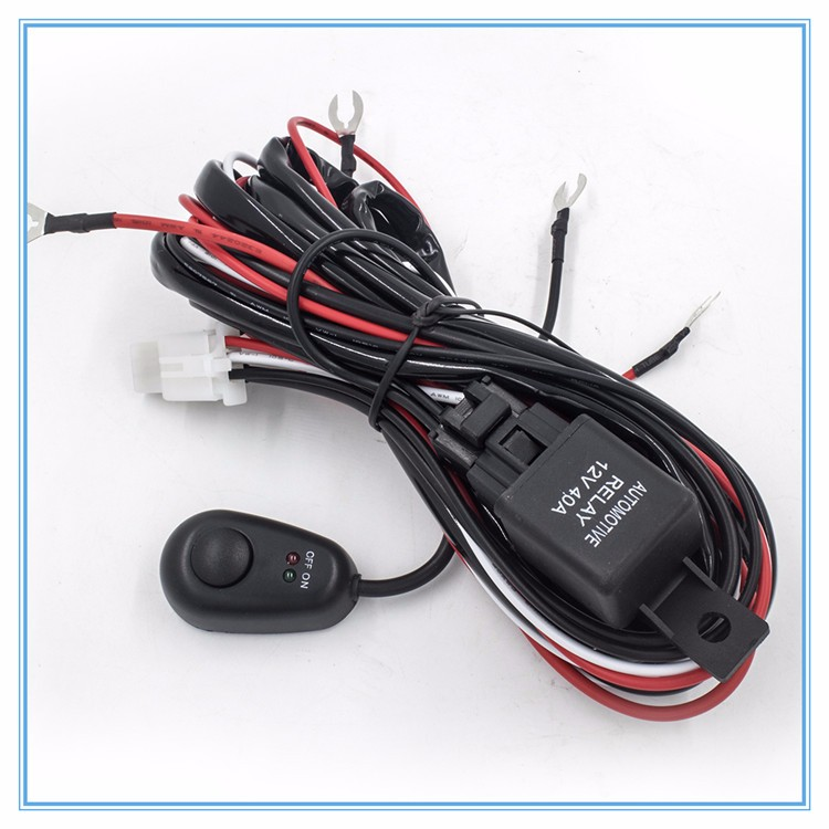 12V 3M Remote Control Wiring Harness Switch Relay Kit LED Work Light Bar 1 Lead