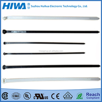 Own Factory Black Self-locking Stainless Steel Barb Nylon Cable Ties