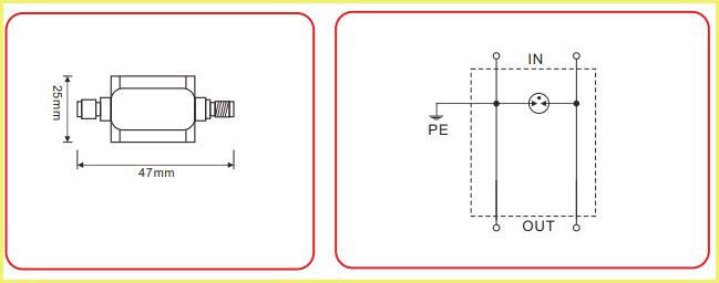 N-male/female Antenna Feeder Spd/surge Protector/lightning Arrester - Buy  Antenna Surge Protector,N-male/female Antenna Spd,Antenna Lightning  Arrester