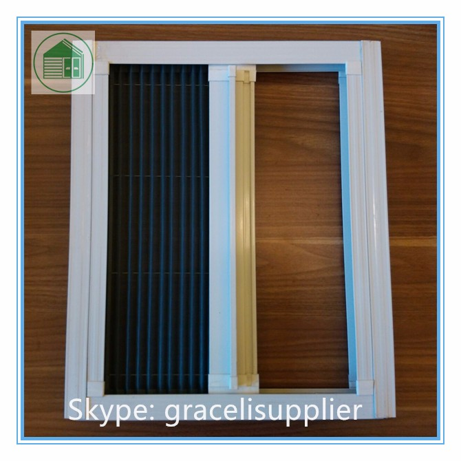 China factory anti mosquito fiberglass polyester for Accordion retractable screen doors