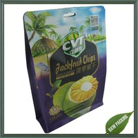 dried fruit packing plastic pouch with ziplock /side gusset bag with ziplock for dried fruits