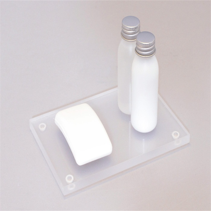 acrylic frosted bathroom accessories thick plexiglass amenity serving tray