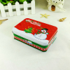 Custom design rectangle metal packing Christmas gift use tin case