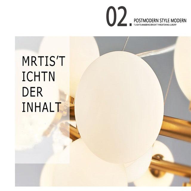 Lighting Pendant Scandinavian Style Designer Lamp Modern Gl Bubble Chandelier