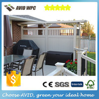 Garden Wood Plastic Composite WPC Fence Panels, wpc rail fence