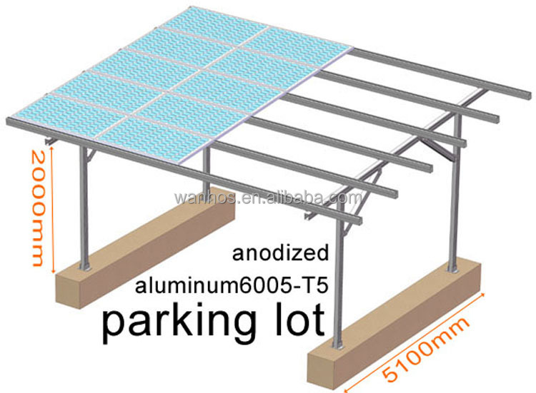 Solar Energy System Build on parking lot Carport Mounting System