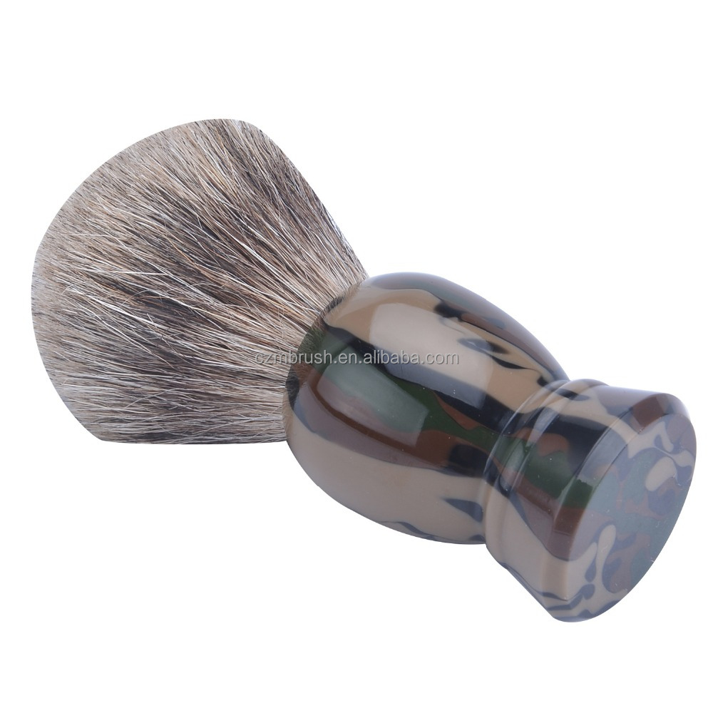 Private Label Holz Herren Barber Brush Reine Dachshaar Knoten Rasierpinsel