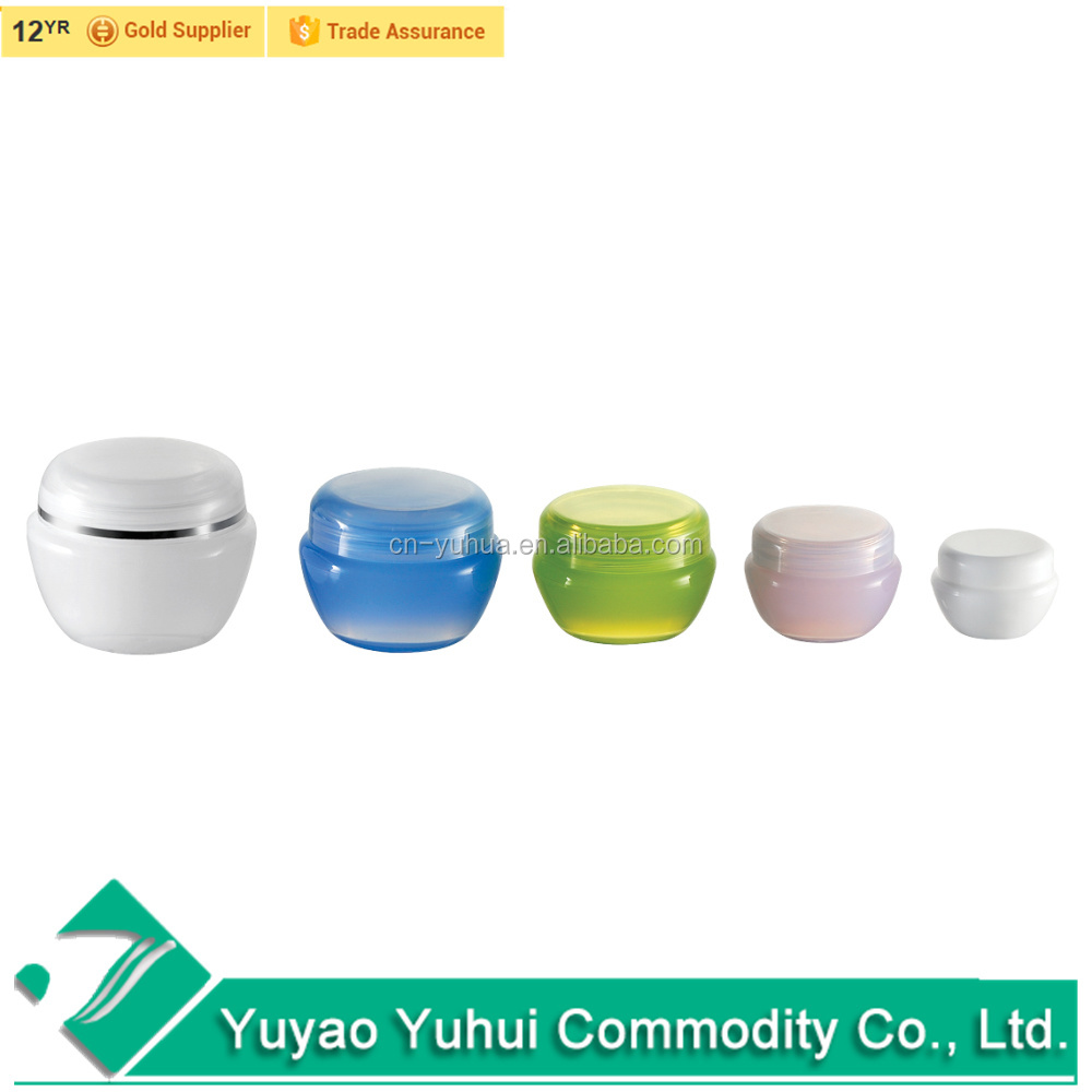 Yuyao supplier PJ1001 PS single wall beautiful cosmetic jar 10g