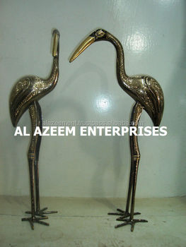 Best Quality Beautiful Stork Bird Pair Brass Made Crafts Pakistan