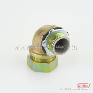 Color zinc plated steel fittings 90d-angle cable electrical connector