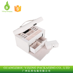 OEM China manufacturer PU leather jewelry display case for present