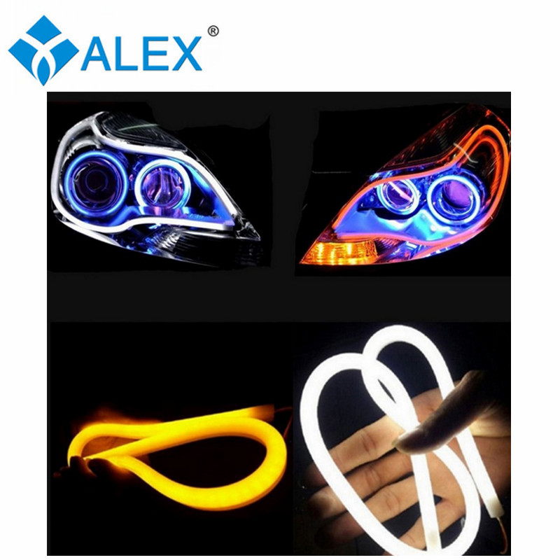 30cm/45cm/60cm/85cm 12V Turn Indicator Flexible Silicone Car LED Strip Fluorescent Tube Auto DRL Blue / Red / White/Yellow