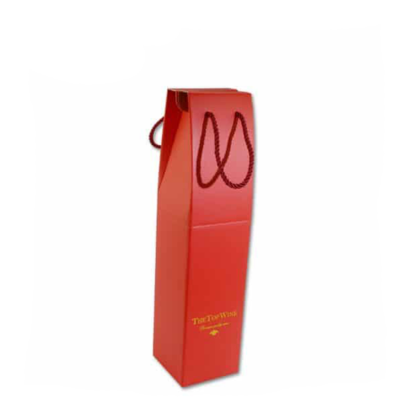 Single Double bottles packing custom made corrugated paper wine boxes