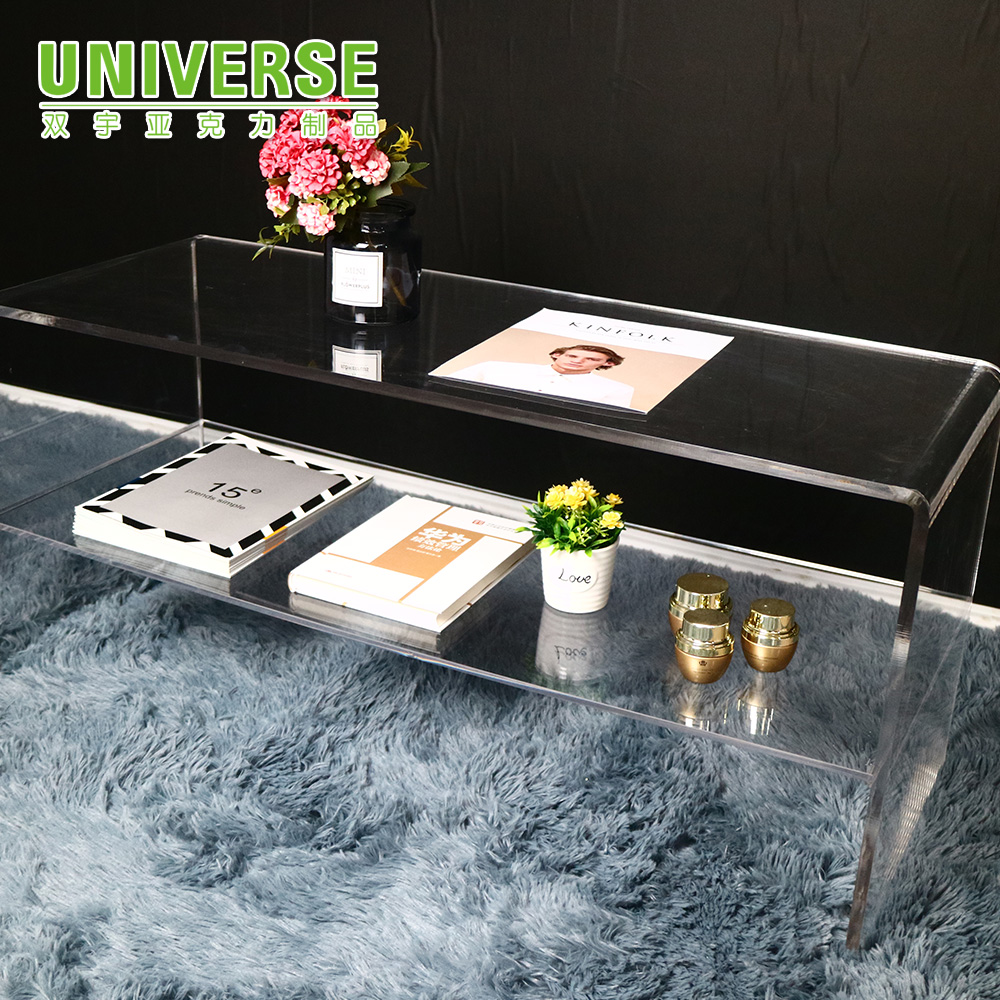 UNIVERSE custom clear acrylic coffee table transparent acrylic furniture desk