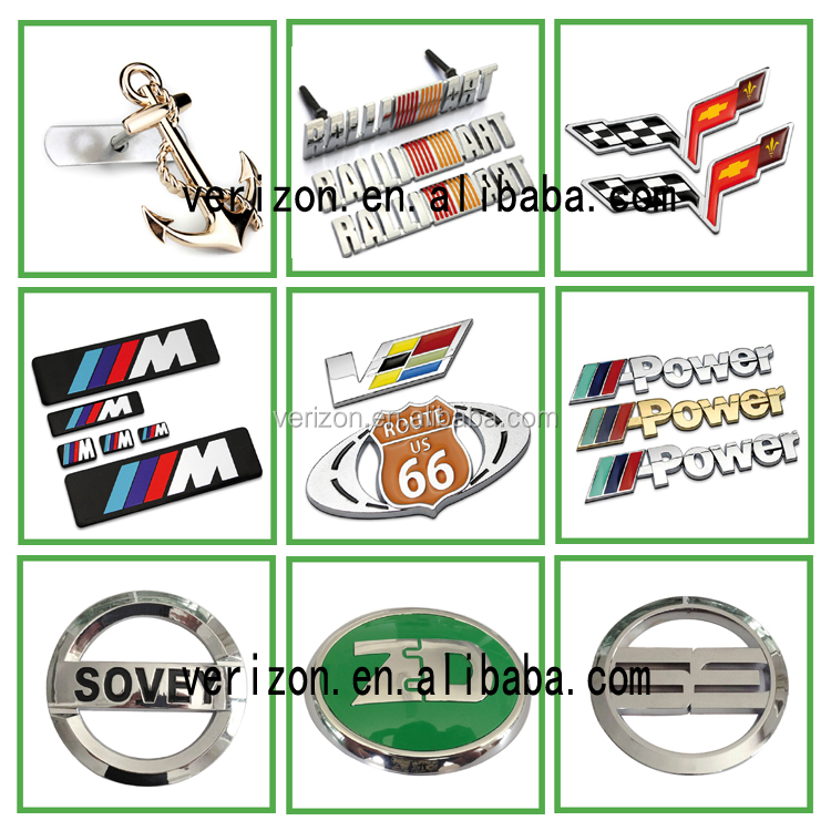 Customized 3d Plastic Chrome Auto Emblem Car Logo And Car Abs