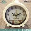 Antique Cream color mantel metal table clock