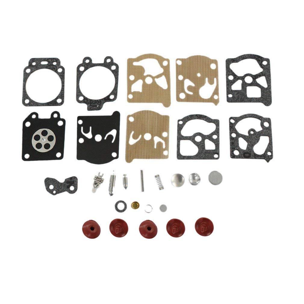 AISEN Carburetor Diaphragm Gakset Rebuild Kit Check Valve for K20-WAT Echo Poulan Trimmer Edger Carb WA WT Series Carburetor