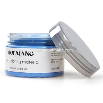private label MOFAJANG 9 Colors Hair Styling Pomade Material Temporary Disposable Mud Hair Color wax