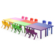 USA best selling adjustable legs plastic kids table chair